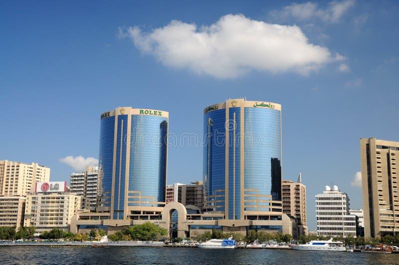 заводь Дубай зданий самомоднейший стоковые изображения rf