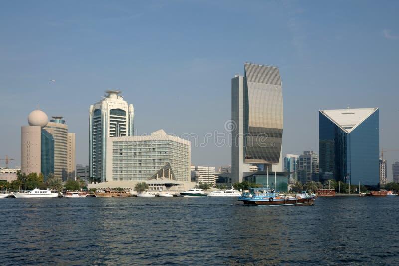 заводь Дубай зданий стоковые фото