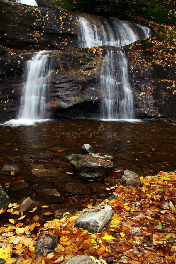 заводь падает водопад setrock nc стоковое изображение