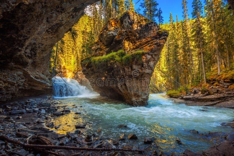 Заводь Johnston в Канаде сфотографировала от пещеры стоковая фотография