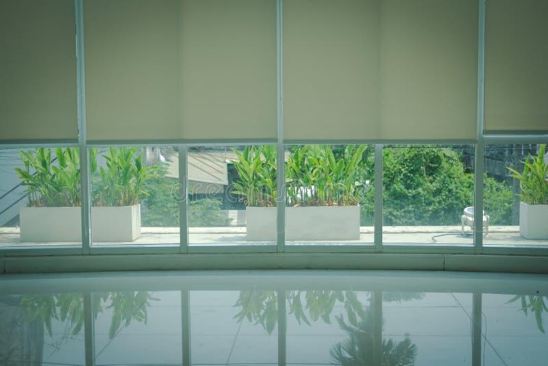 Завод на крене террасы & алюминиевого окна ослепляет занавес ролика стоковое фото rf