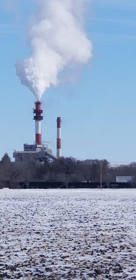 Завод стога дыма стоковые изображения rf