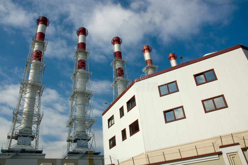 завод cogeneration стоковое изображение