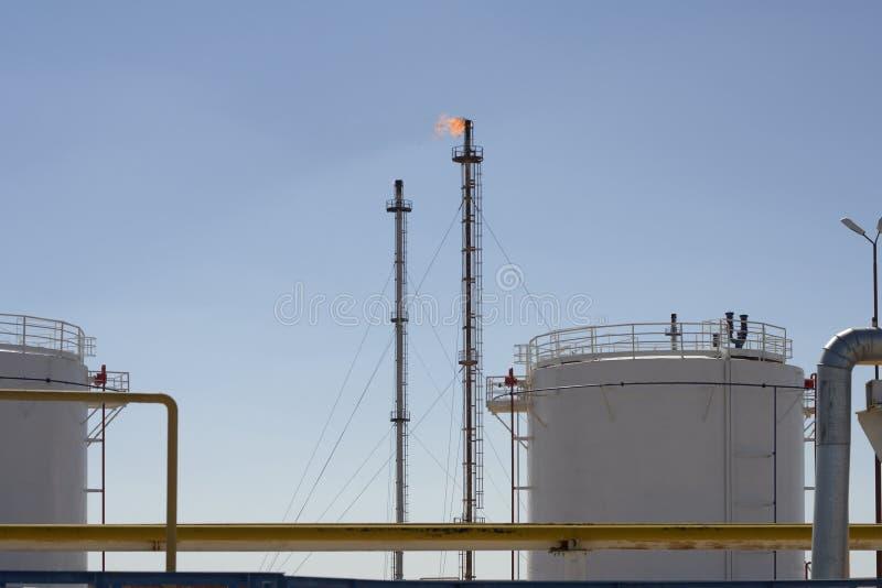 Завод Petrochemical и газа стоковая фотография rf