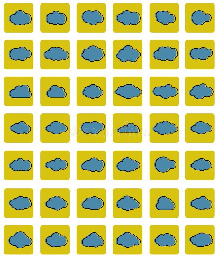 Заволакивает линия значок искусства Собрание иллюстрации неба плоское для сети также вектор иллюстрации притяжки corel бесплатная иллюстрация