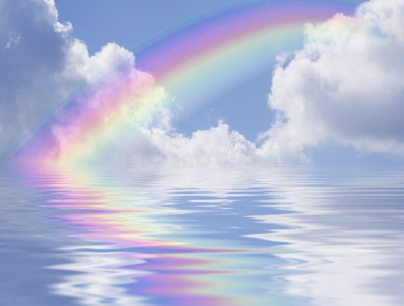 заволакивает отражение радуги стоковая фотография