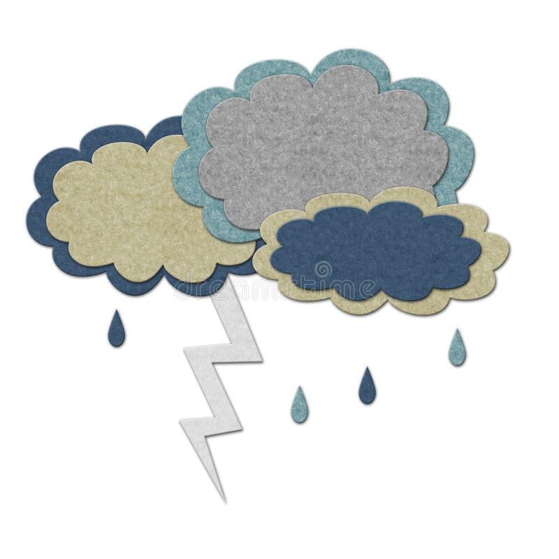 заволакивает шторм молнии иллюстрация штока