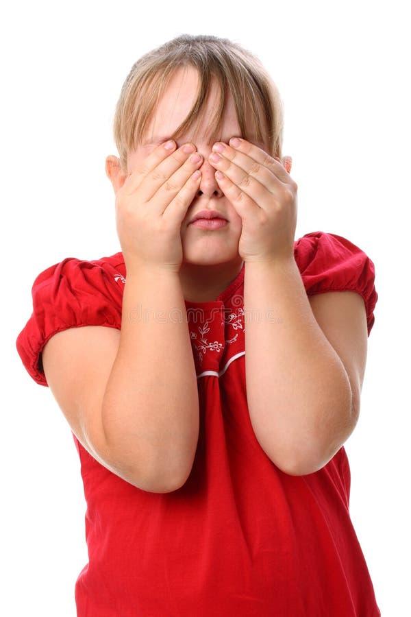 заволакивание eyes девушка ее изолированная малая белизна стоковые фото