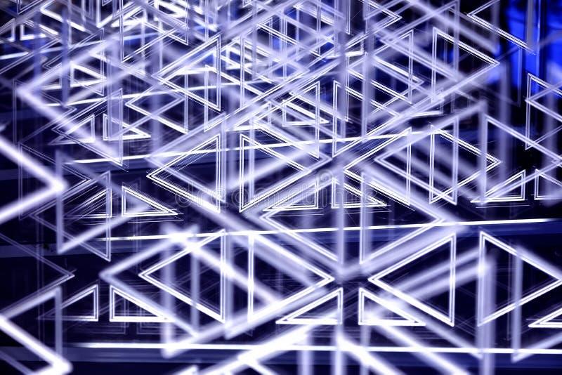 Завораживающая текстура с самыми интересными и bokeh паутина сломленного стекла осветила путем выравнивать света волшебная предпо стоковое изображение