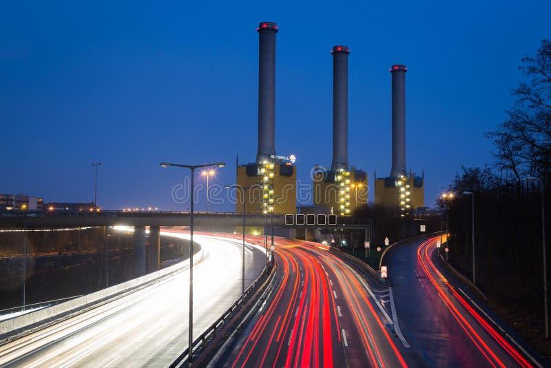 Завод Берлин-Wilmersdorf теплоэлектроцентрали (Kraftwerk Берлин Wilmersdorf) стоковая фотография rf