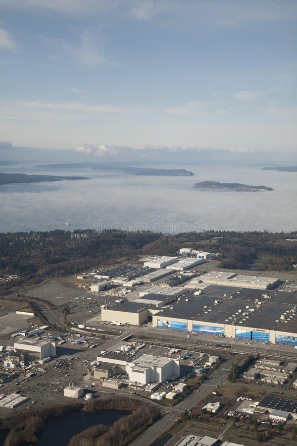 Завод Боинга в Эверетте стоковое фото rf