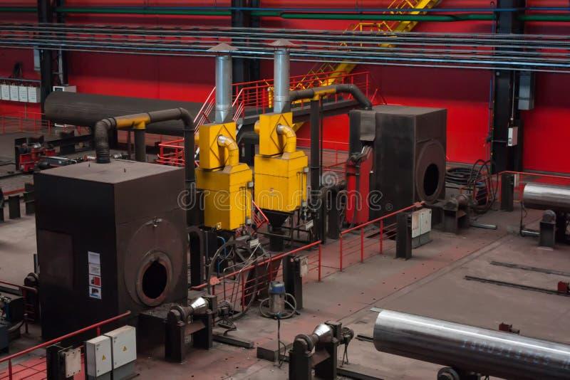 Завод завальцовки трубки стоковое изображение rf