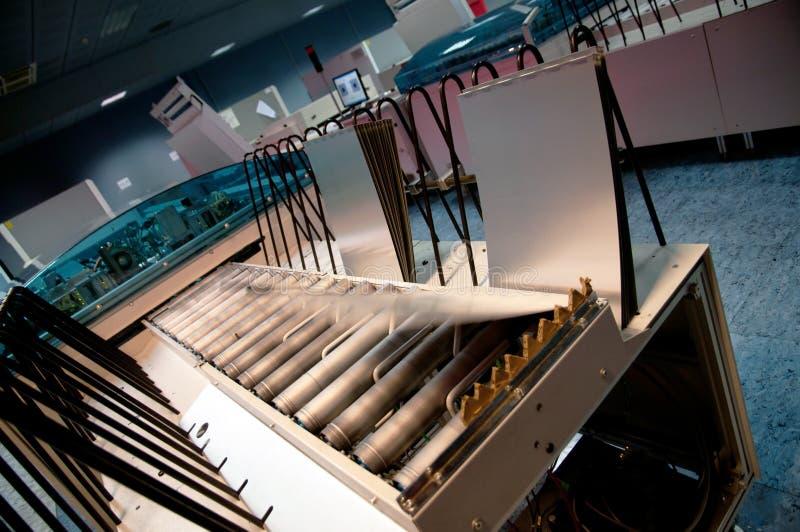 Завод печатания - компьютер CTP для того чтобы покрыть отдел стоковое фото rf