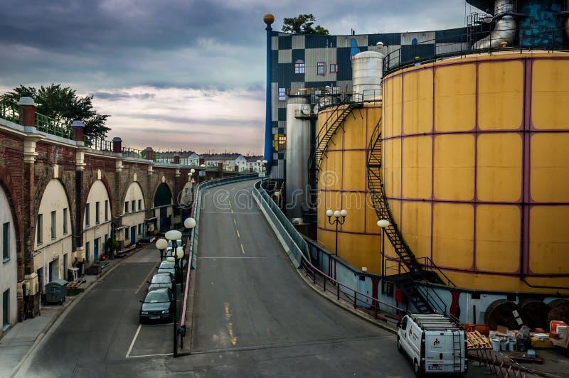 Завод топления района в вене стоковые фотографии rf