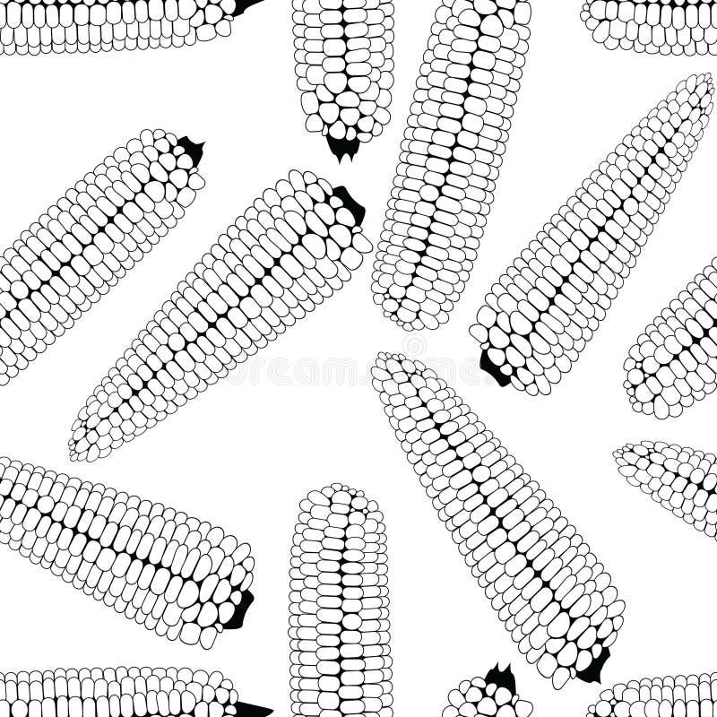 Завод удара предпосылки вектора еды мозоли безшовный иллюстрация штока