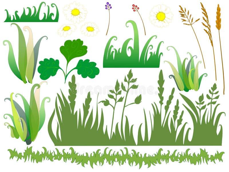 Заводы и цветки шаржа иллюстрация вектора