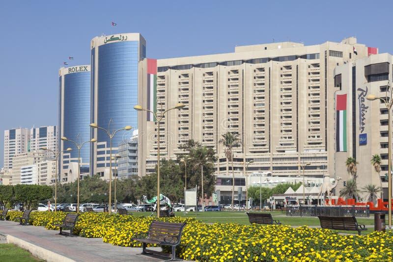 заводь Дубай зданий стоковая фотография rf