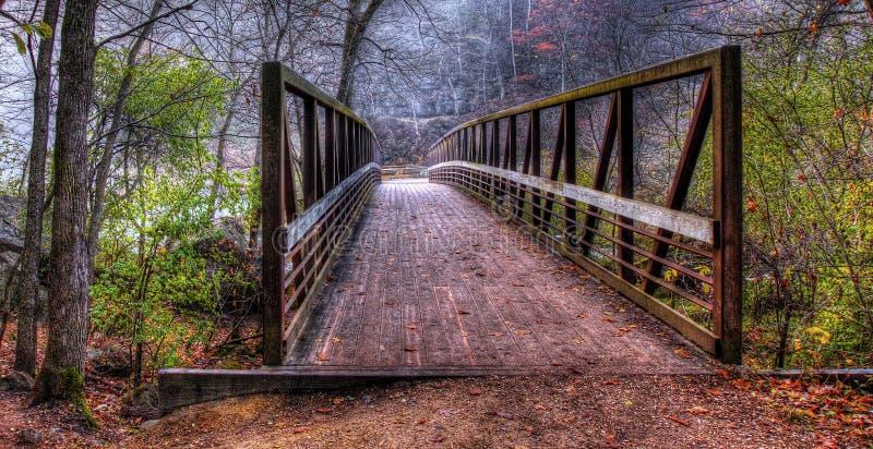 Заводь и мост в HDR стоковая фотография