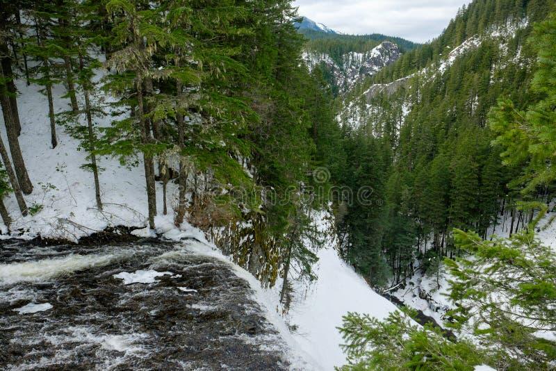 Заводь соли около водопада в Орегоне стоковая фотография rf