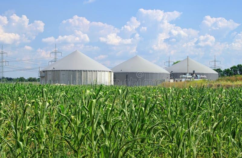 Завод лэндфилл-газа стоковые изображения rf
