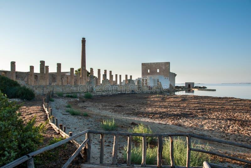 Завод для руин рыбной ловли тунца стоковые фото