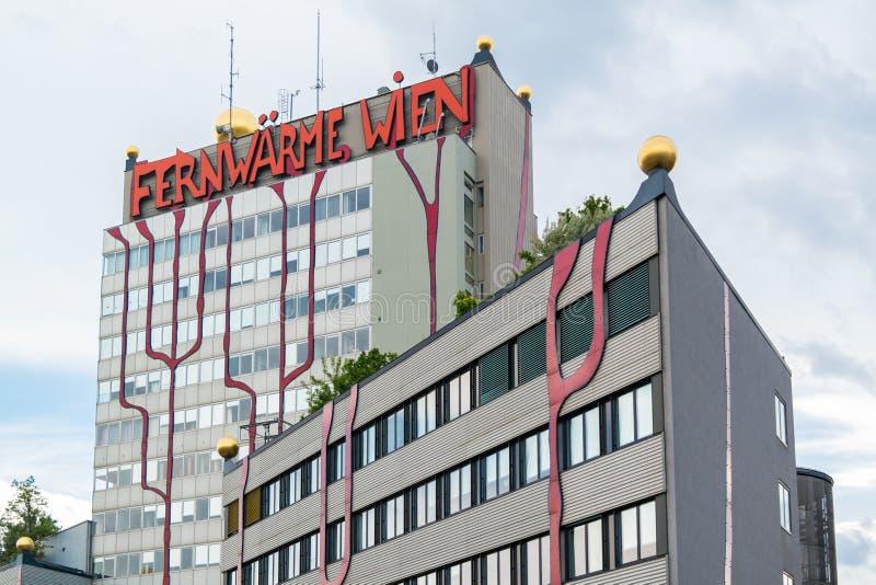 Завод Spittelau Hundertwasser в вене стоковые фотографии rf