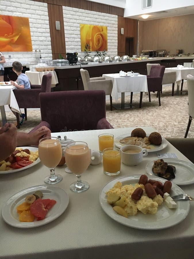 Завтрак на гостинице Сочи стоковое изображение rf