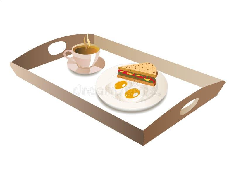 завтрак полный иллюстрация вектора