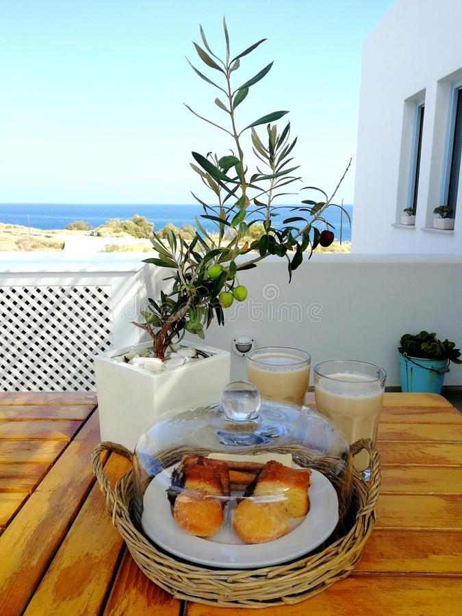 Завтрак с взглядом стоковое изображение