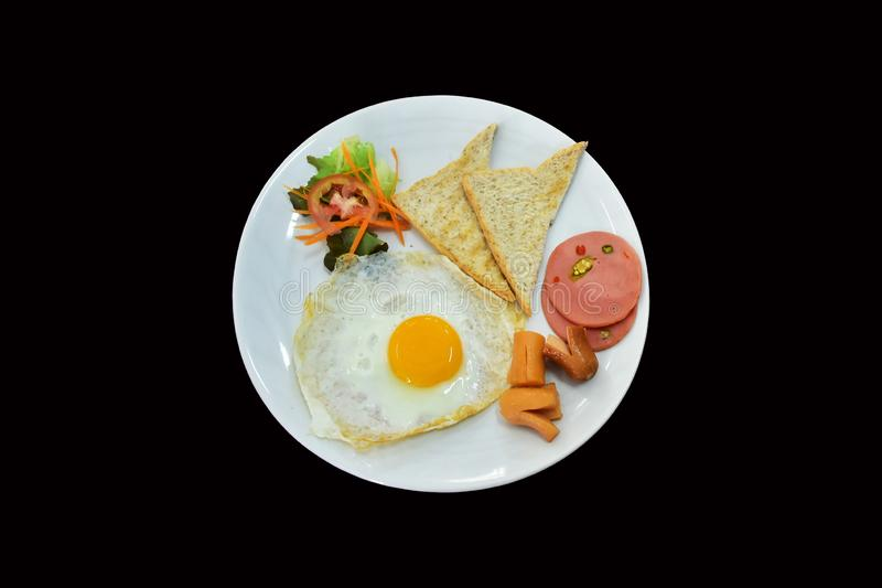 Завтрак установил на плиту whtie стоковые фото