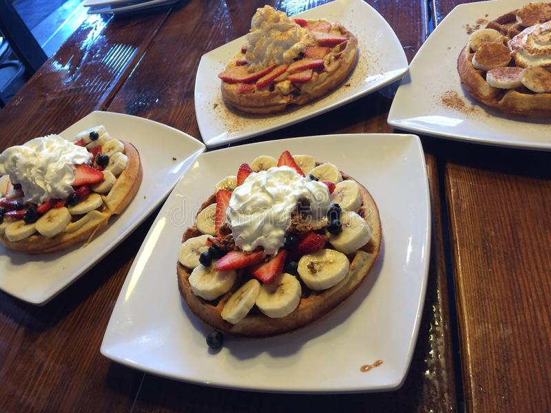 Завтрак waffle стоковое фото rf