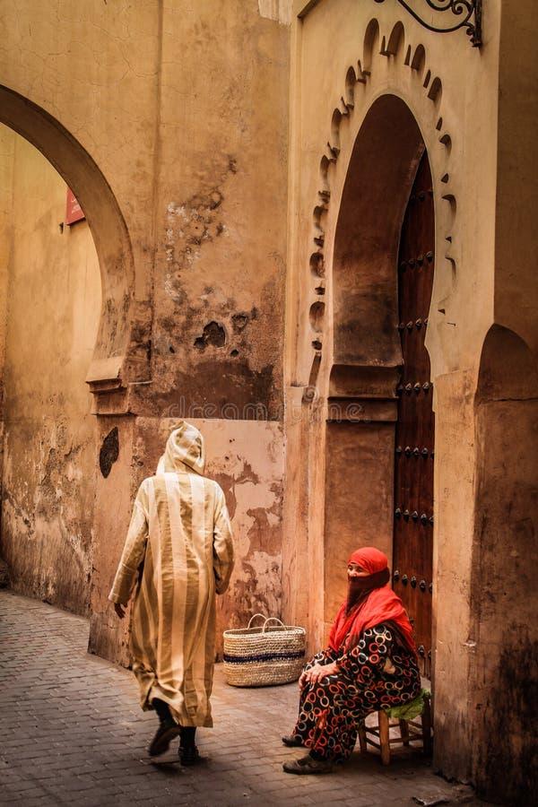Завуалированная старуха marrakesh Марокко стоковое изображение rf