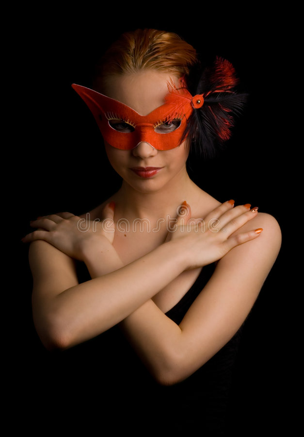 загадочная женщина стоковая фотография rf