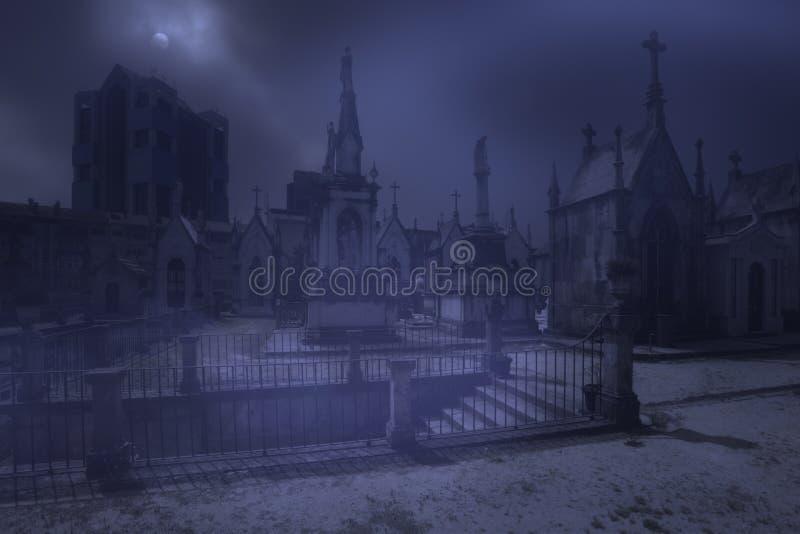 Загадочные лестницы кладбища стоковое изображение