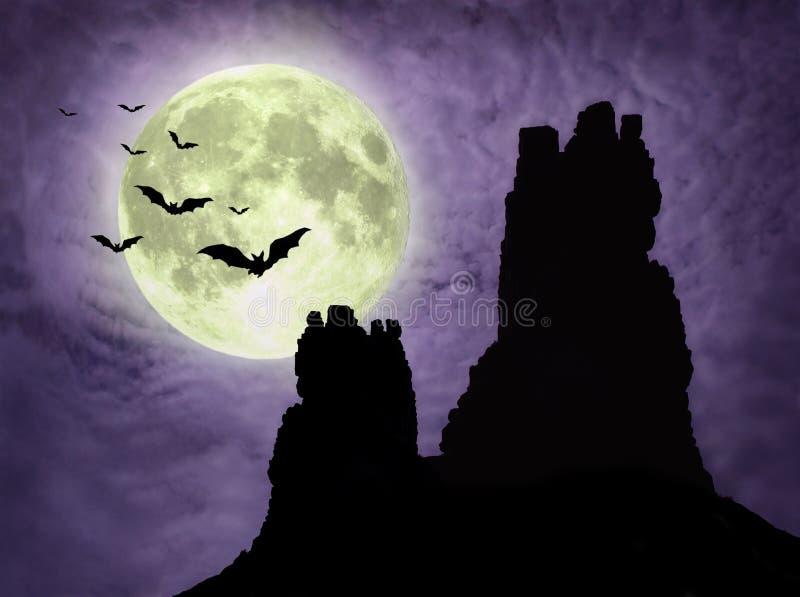 загадочный пейзаж ночи стоковое фото rf