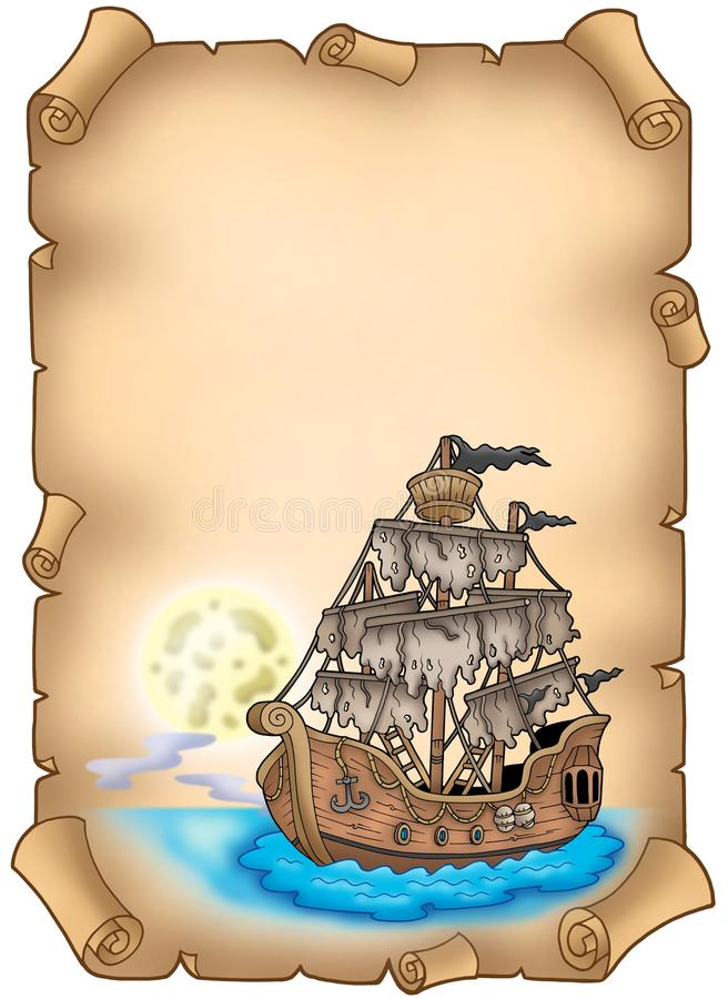 загадочный старый корабль переченя бесплатная иллюстрация