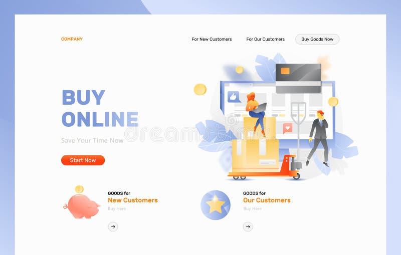 Заголовок интернет-страницы покупки онлайн бесплатная иллюстрация