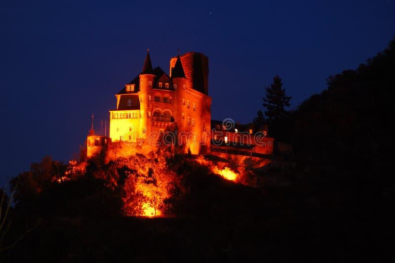 загоранное замоком река rhine стоковые фотографии rf