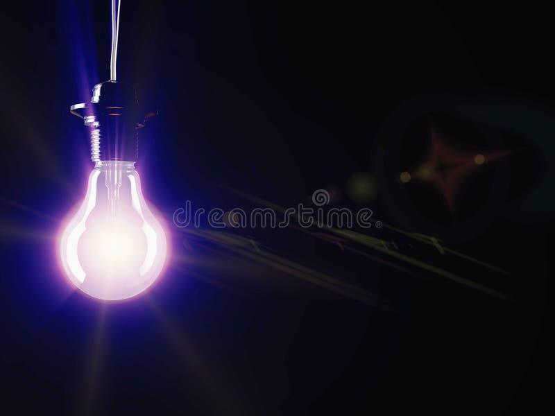 Загоренная дневная электрическая лампочка стоковое изображение rf