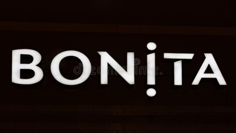 Загоренный логотип BONITA стоковая фотография