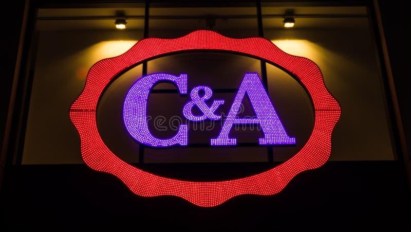 Загоренный логотип c и a стоковые изображения rf