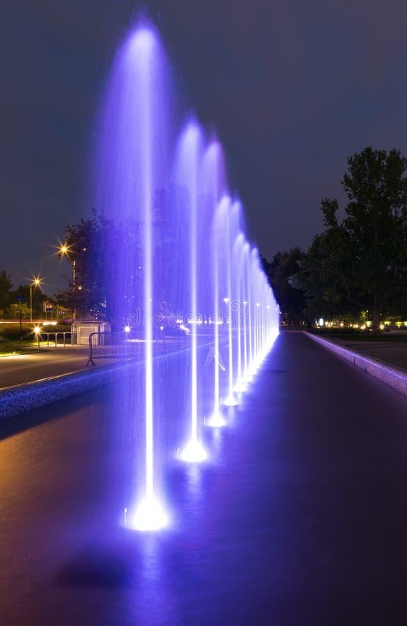 Загоренный фонтан стоковое изображение rf