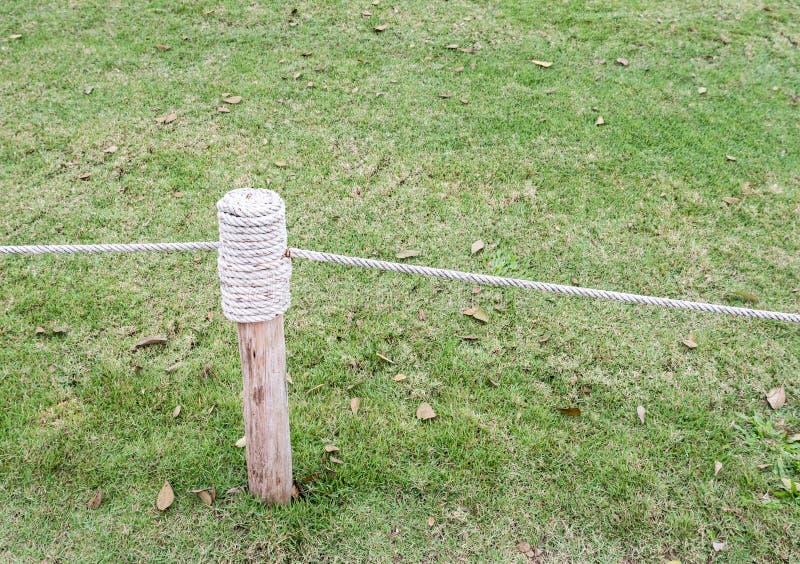 Загородка веревочки для предотвращения стоковые фото