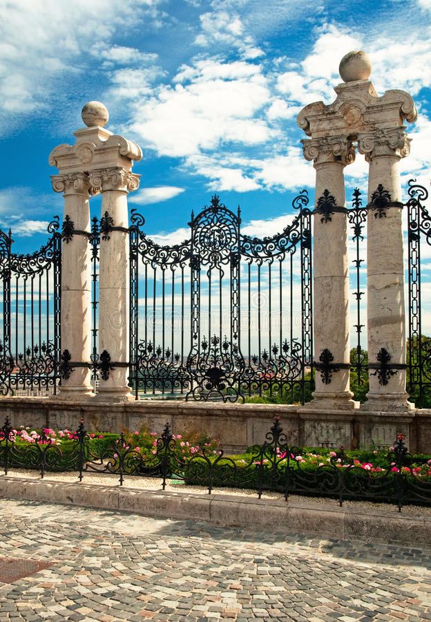 загородка замока budapest стоковые изображения