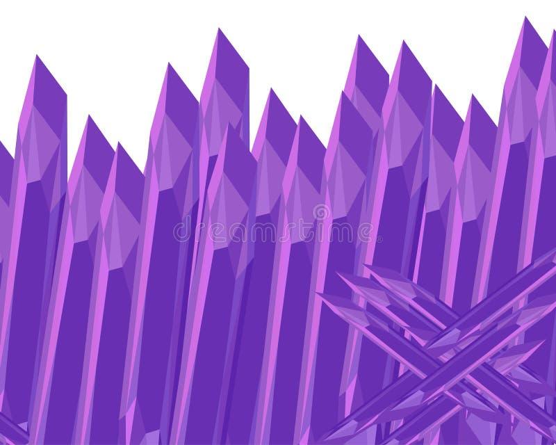 Загородка камня острая Пурпур аметиста E иллюстрация штока