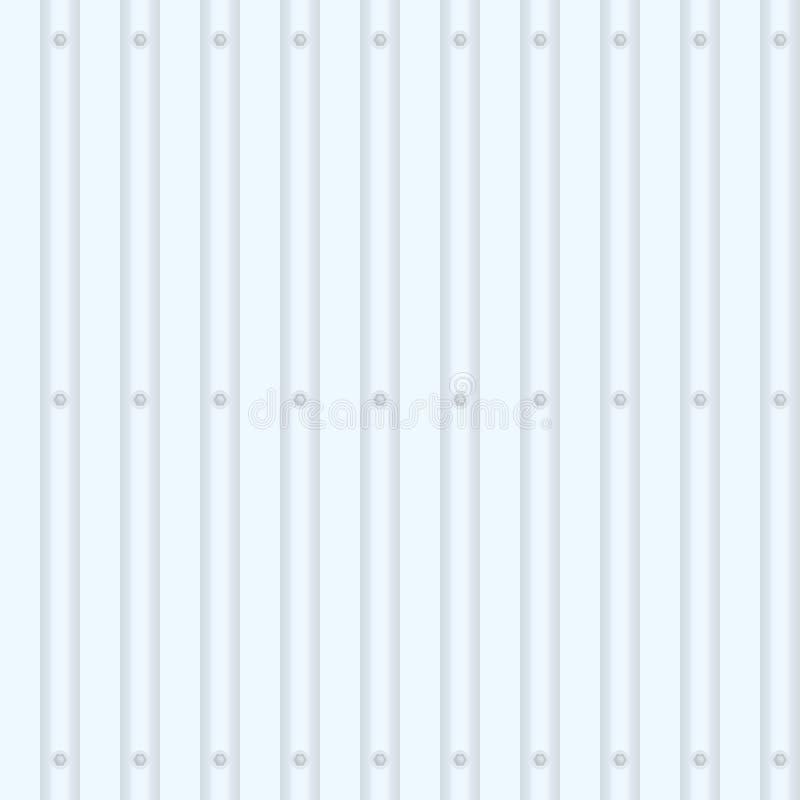 Загородка от металл-профиля иллюстрация вектора