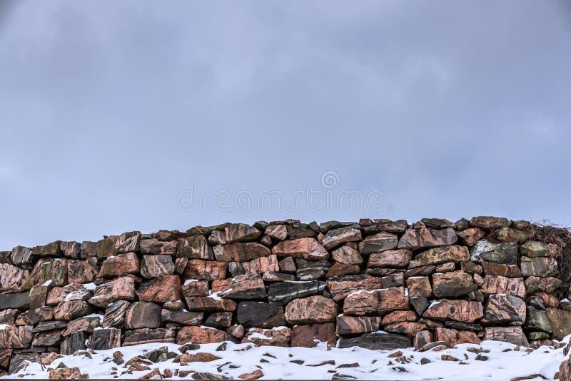 Загородка сделанная от камней стоковые изображения rf