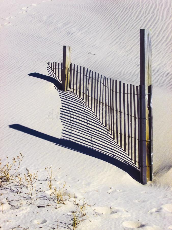 Загородка снега с тенью стоковое фото