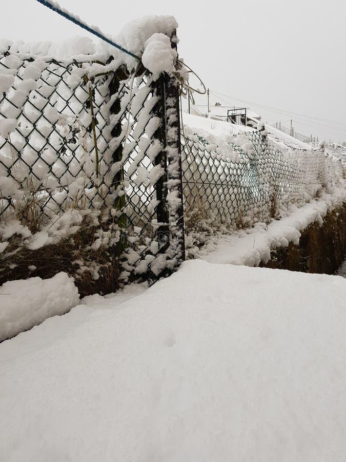 Загородка снега стоковое фото