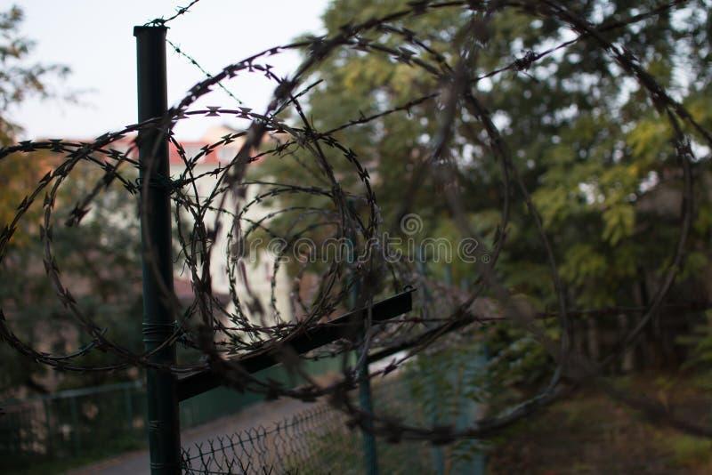 Загородка тюрьмы стоковое изображение rf